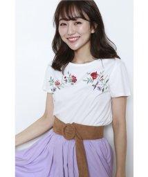 JUSGLITTY/刺繍Tシャツ/10251289N