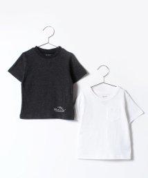 b-ROOM/ロゴ入り&ポケットつきTシャツ2枚セット/500210091