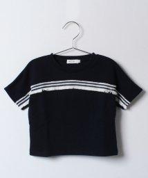 KOE/フリンジ付5分袖プルオーバー/500207043