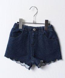 KOE/カットデニム裾スカラップショートパンツ/500207045
