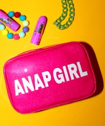 ANAP GiRL/ロゴ入ラメPVCポーチ/500206267