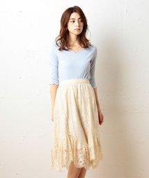 MIIA/アシメビンテージレーススカート/500218702