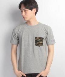 JNSJNM/【CHAMPION】REVERSE WEAVE カモフラポケットTシャツ/500210603