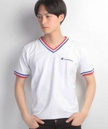 JNSJNM/【CHAMPION】REVERSE WEAVE トリコリブVネックTシャツ/500210604