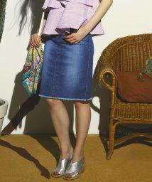 Viaggio Blu/≪大きいサイズ≫カイハラカットオフデニムタイトスカート/500228103