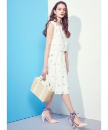 MIIA/チェリー刺繍タックフレアースカート/500234162