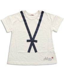 ALGY/りぼんタイTシャツ/500200821