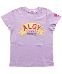 ALGY/ギンガムチェックロゴT/500206141