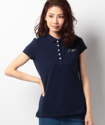 TOMMY HILFIGER WOMEN/ストレッチピケポロシャツ/500219436