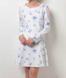 MIIA/ベロアフラワープリント裾切替ワンピース/500191681