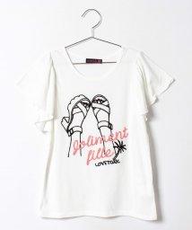 Lovetoxic/チェーン刺繍袖フレア半T/500224727