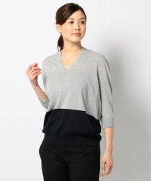JIYU-KU /【洗える】コクーンホールガーメント Vネックニット/500239572