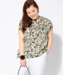 ICB(LARGE SIZE)/【洗える】Mineral Flower Print カットソー/500241919