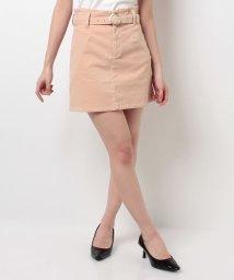 MIIA/ベルト付きトラペラーズスカート/500191664