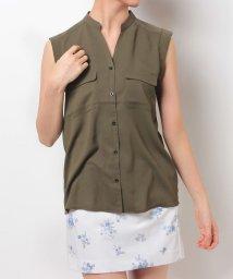 MIIA/スタンドノースリーブシャツ/500191677