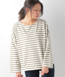 AZUL by moussy/度詰めボーダーTOPS/500209079