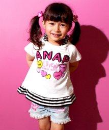 ANAP KIDS/ボーダー切替裾フリルTワンピース/500222680