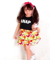 ANAP KIDS/フルーツ柄切替ワンピース/500222682