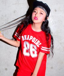 ANAP GiRL/【セットアップ対応商品】ロゴナンバリングメッシュTシャツ/500222720