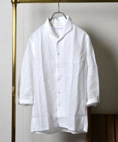 SC:リネンフレンチカラー7スリーブシャツ