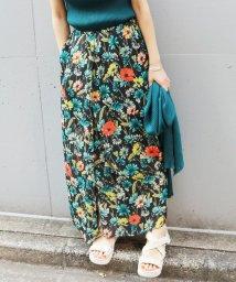 IENA/《予約》chere DEVEAUXプリントスリットスカート◆/500248641