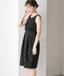 URBAN RESEARCH/calian BOUTIQUE−Black Mules− ジャガードワンピース/500249028