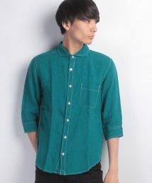 JNSJNM/【BLUE STANDARD】フレンチリネン7分袖シャツ/500216721