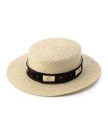 ROSE BUD/(FERRUCCIO VECCHI)ミラー刺しゅうリボンカンカン帽/500249906