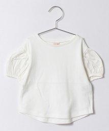 petit main/袖布帛バルーンTシャツ/500247549