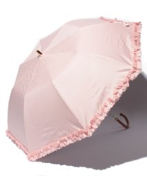 LANVIN en Bleu(umbrella)/晴雨兼用折畳遮光 ドヒー×フリルパラソル/LB0003484