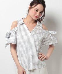 Rirandture/袖リボン肩あきシャツブラウス/10251828N