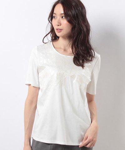 【Leilian(レリアン)】プリントTシャツ