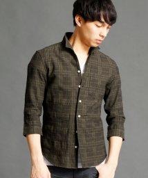 HIDEAWAYS NICOLE/チェック柄7分袖シャツ/500186008