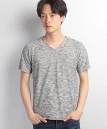 JNSJNM/【FORT POINT】タックボーダーVネックTシャツ/500222970