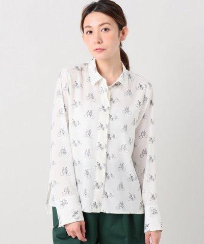 バイシクルプリントヒヨクシャツ