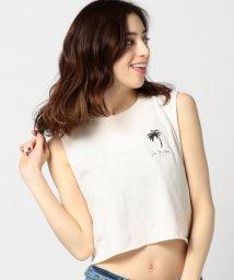 ROSE BUD/(HIPS AND HAIR)パームツリー刺繍ショート丈タンクトップ/500257456