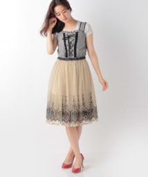 axes femme/裾刺繍ドッキングOP/500241121