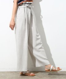 ROPE' PICNIC/【Japan Fabric】麻調ワイドパンツ/500262919