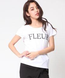 VICKY/FLEURロゴビジューTシャツ/500266087
