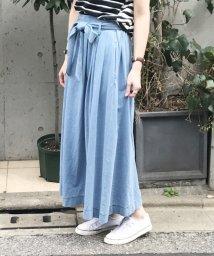 coen/インディゴ天竺マキシスカート/500273583
