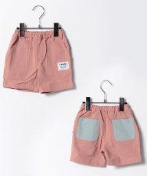 b-ROOM/洗水麻無地4分丈パンツ/500261660