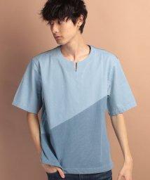 JUNRed/ライトデニムコンビTシャツ/500269061