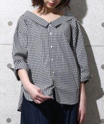 ROPE' PICNIC/【2WAY】先染め七分袖シャツ/500279706