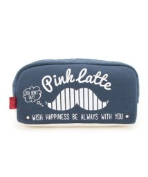 PINK-latte/マスタッシュプリント横長ポーチ/500280450