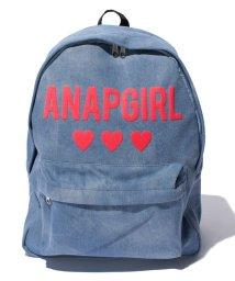 ANAP GiRL/デニムハートロゴリュック/500263660