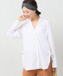 IENA/《追加》サイドスリットリボンシャツ/500286664