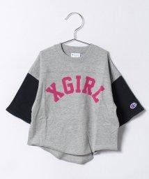 X-girl Stages/CHAMPION フットボール半袖Tシャツ/500277012