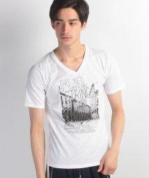 JNSJNM/【FORT POINT】フォトプリントVネックTシャツ/500255200