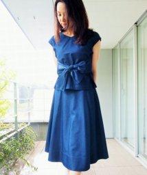 STRAWBERRY FIELDS/【andGIRL5月号掲載】ベルト付きメープルデニムスカート/500292025