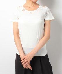 Eimy Peal by POWDER SUGAR/カットオーガンジーTシャツ/500273420